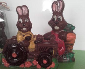 Paaschocolade figuren in verschillende soorten en maten.