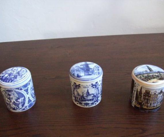 Stroopwafels in Delfts blauwe potten p.stuk 14,25