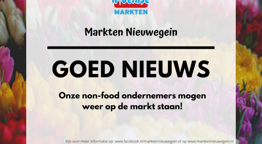 Vanaf a.s. zaterdag zijn onze NON-FOOD ondernemers er weer!