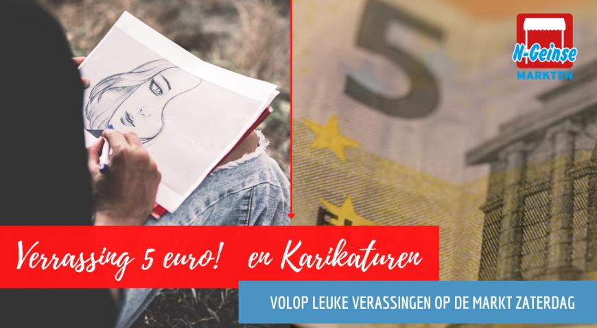 Deze Zaterdag 5 euro Verassingen & Karikaturen op de Markt
