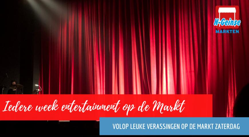 Iedere week entertainment op de markt in Nieuwegein